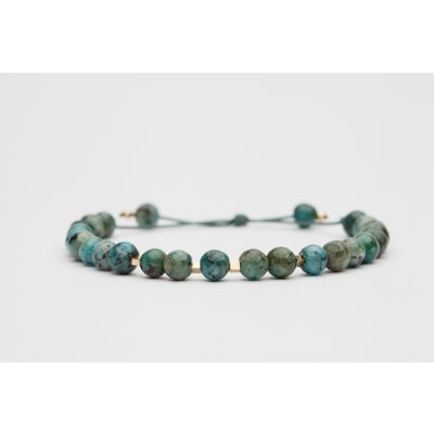 Crash green agate bracelet