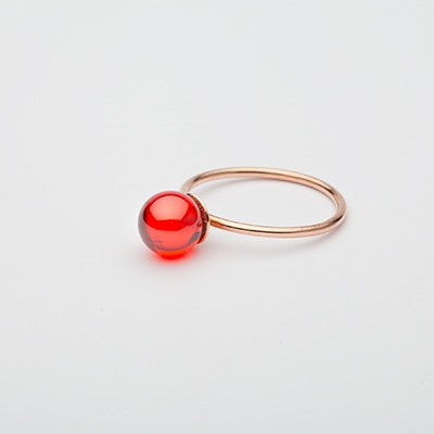 Big Babol ring red