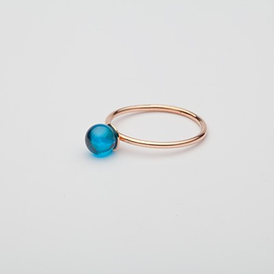 Small Babol ring blue