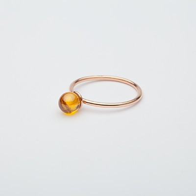 Small Babol ring yellow
