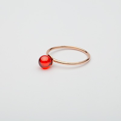 Small Babol ring red