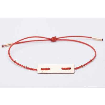 Mimimal rectangular bracelet with four holes
