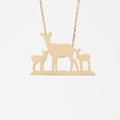 Necklace with deer