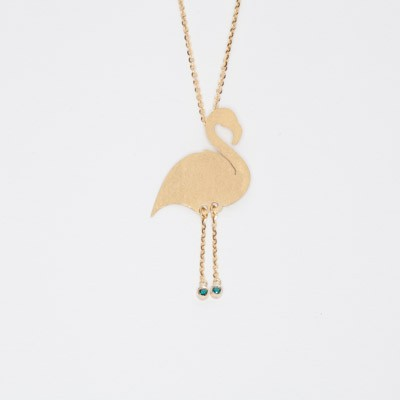 Charm with flamingo