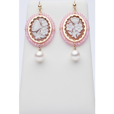 Cameos earrings